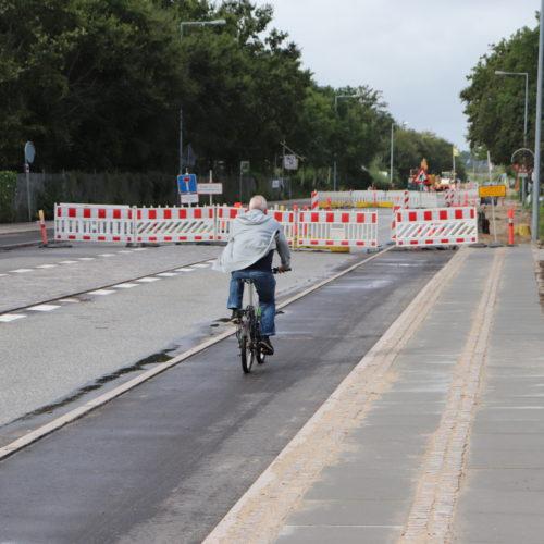 Skydebanevej er spærret for gennemkørsel