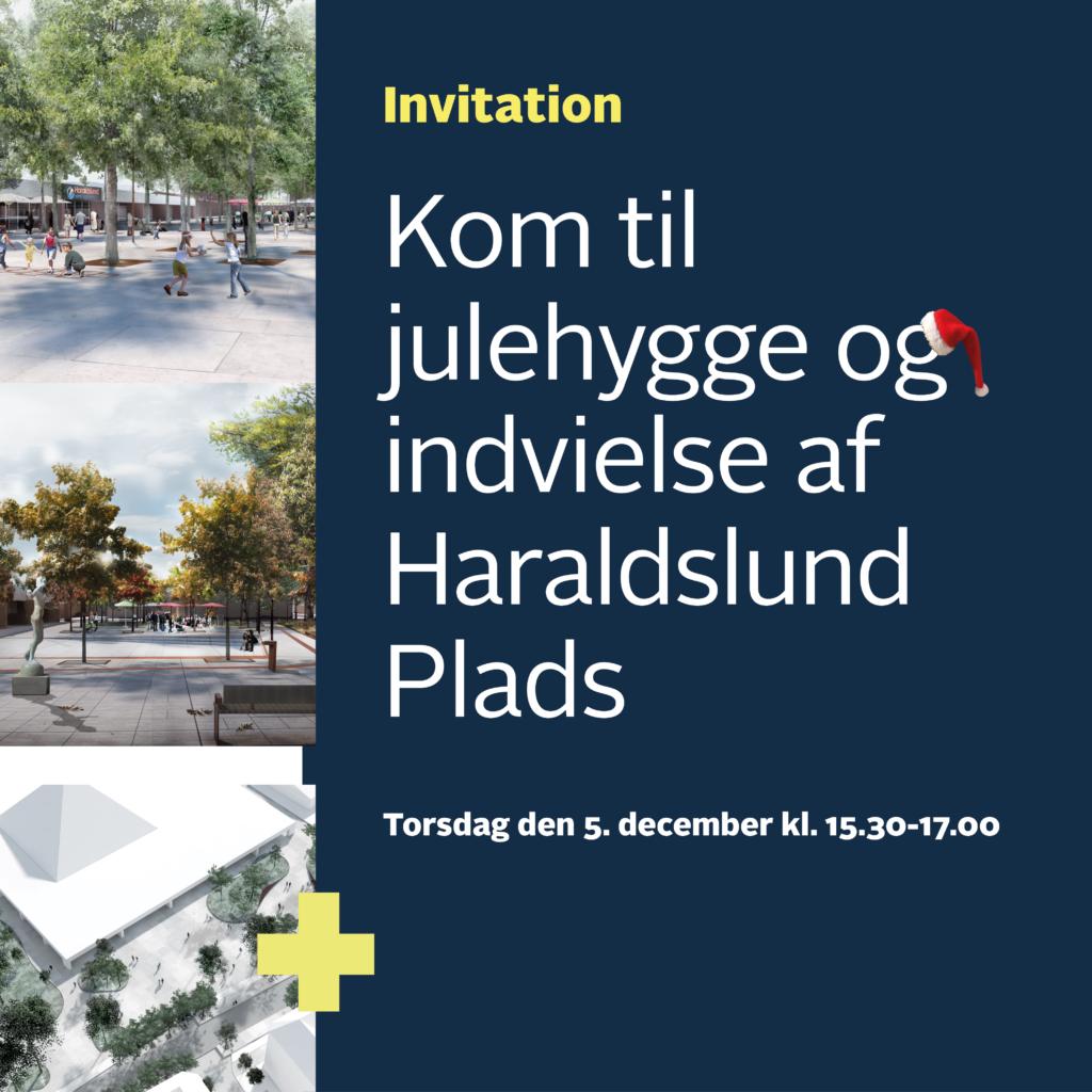Invitation til åbning af Haraldslund